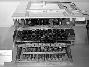 Typewriter - Peter Mitterhofer's typewriter prototype (1864)