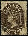 1868ca 9d Ceylon used Yv39 Mi38AaII SG69 blackish-brown.jpg