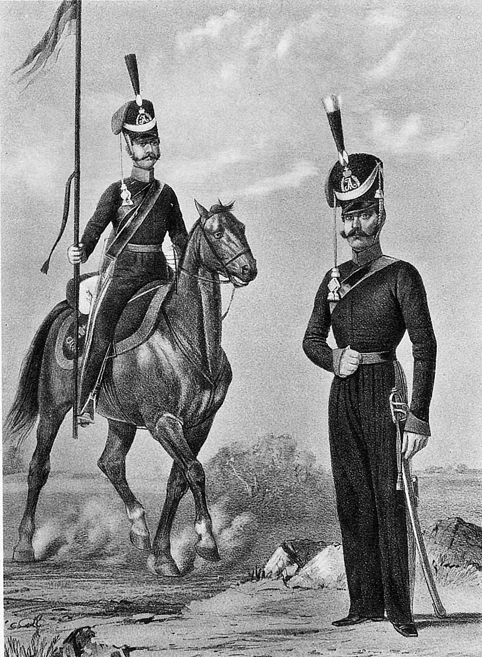 18 2559 Book illustrations of Historical description of the clothes and weapons of Russian troops