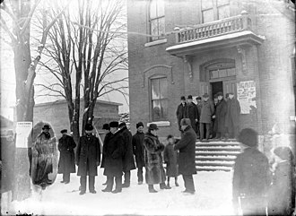 Ontario general election, 1902 - Voters go to the polls in Ottawa East