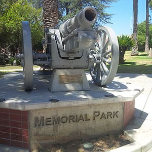 Sierra Madre Memorial Park - Image: 1905 World War I Krupp Cannon 150mm SM CA