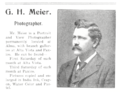 1907 G H Meier photographer advert Alma Kansas.png