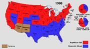 1908 Electoral Map