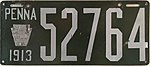 1913 Pennslvania License Plate.jpg