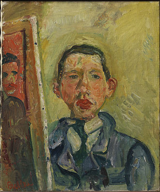 Chaim Soutine - Self Portrait, 1918, Henry and Rose Pearlman Collection, on long-term loan to the Princeton University Art Museum