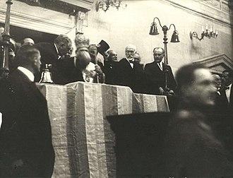 Pavlos Kountouriotis - Kountouriotis in 1924 is sworn in as the first President of the Second Hellenic Republic