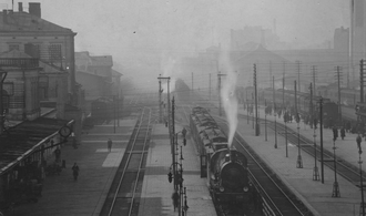 Warszawa Główna railway station - Warszawa Główna railway station in 1925