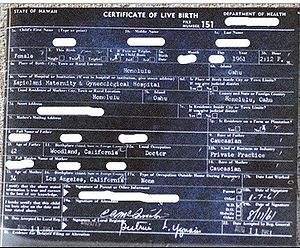 An image of a sample Certificate of Live Birth...