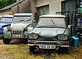 1968 Citroën Ami 6 Club and 1965-1966Citroën 2CV, Cazals, Lot, France (8477488048).jpg