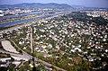 196L29180890 Donauturm, Blick vom Donauturm, Donauinsel, Nordbahnbrücke, Floridsdorferbrücke, Siedlung Bruckhaufen.jpg