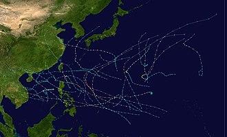 1984 Pacific typhoon season - Image: 1984 Pacific typhoon season summary