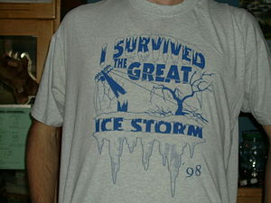 January 1998 North American ice storm - A T-shirt sold in Ottawa, Ontario, a region affected by the 1998 North American Ice Storm.