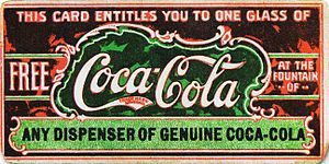 Coupon - Image: 19th century Coca Cola coupon