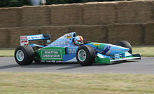 Photo de la Benetton B194 à Goodwood en 2006