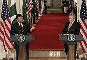 US President George W. Bush and President Musharraf in late 2006