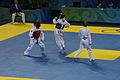 2008 Summer Olympics Taekwondo - Sara Khoshjamal v. Ghizlane Toudali 2.jpg