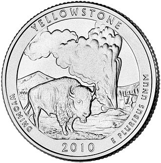 America the Beautiful Silver Bullion Coins - Image: 2010 WY Unc