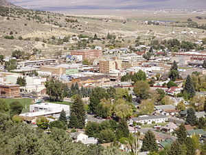 2012-10-08 View of downtown Ely in Nevada from the lower slopes of Ward Mountain.jpg