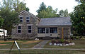 2013-09-14 Richardson-Brinkman Cobblestone House, 607 W. Milwaukee Rd., Clinton, WI, Front View.jpg