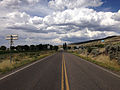 2014-08-19 14 22 50 View north along Nevada State Route 225 (Mountain City Highway) about 95.7 miles north of Nevada State Route 535 (Idaho Street) in Owyhee, Nevada.JPG
