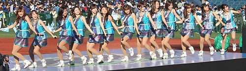 20151128 'diana' cheer team of the Yokohama DeNA BayStars at Yokohama Stadium.JPG