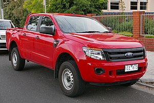Ford Ranger (T6) - Image: 2015 Ford Ranger (PX) XL Hi Rider 4 door utility (2015 11 11) 01