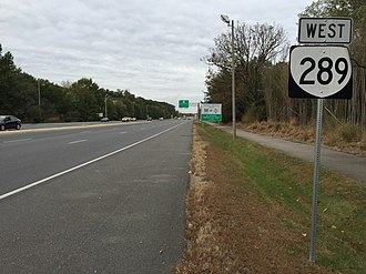 Fairfax County Parkway - View west along SR 289 in Franconia