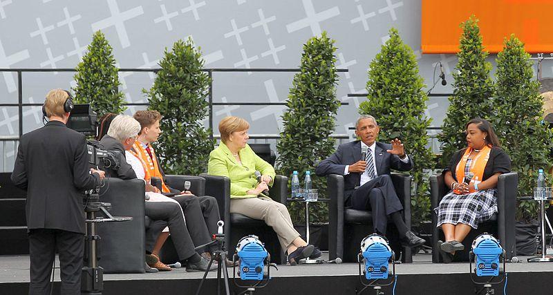 File:2017-05-25 Angela Merkel, Barack Obama (Deutscher