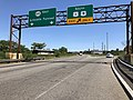 2018-07-08 14 44 29 View east along New Jersey State Route 495 (Lincoln Tunnel Approach) at the exit for U.S. Route 1-U.S. Route 9 SOUTH in North Bergen Township, Hudson County, New Jersey.jpg