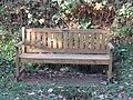 2018-11-11 Long shot of Robert Lee dedicated bench, Paston Way, Knapton, Norfolk.JPG