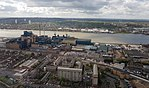2018 LCY, aerial view of Silvertown, Woolwich & Shooters Hill.jpg