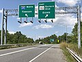 2020-08-05 14 39 47 View north along Maryland State Route 157 (Merritt Boulevard) at the exits for Maryland State Route 150 EAST (Eastern Boulevard, Essex) and Interstate 695 NORTH (Towson) in Dundalk, Baltimore County, Maryland.jpg