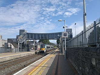 Thurles railway station - An IE 22000 Class train at Thurles