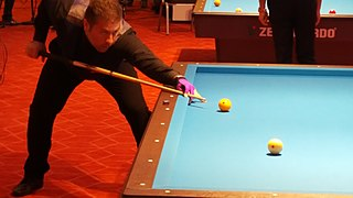 Three-cushion billiards