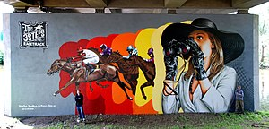 "3Steps - Mural Art ""Racetrack"" by 3Steps for the Hessentag in Wetzlar, 2012"