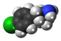 4-Chloroamphetamine molecule spacefill.png