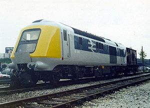 British Rail Class 41 (HST) - 41001 is inspected after arrival at RTC Derby in 1972