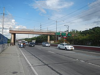 Tandang Sora Avenue road in the Philippines