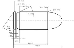 .45 ACP - .45 ACP cartridge dimensions