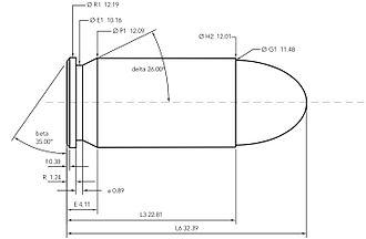 .45 ACP - .45 ACP cartridge dimensions