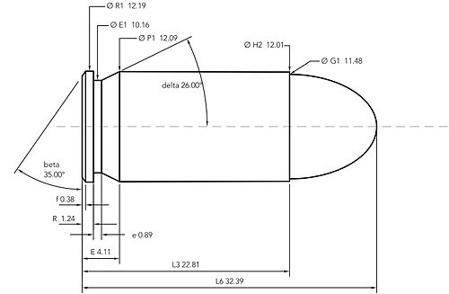.45 ACP cartridge dimensions