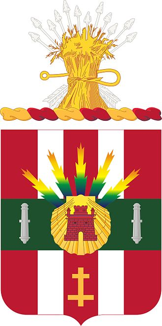 Coats of arms of U.S. Air Defense Artillery Regiments - Image: 4 ADA COA