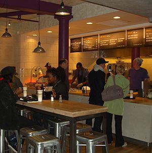 America's Next Great Restaurant - Jawan Woods' Soul Daddy concept was the competition's winner, seen here on opening day, May 2, 2011 at the New York City location. The location closed permanently on June 14, 2011.