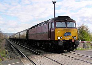 West Coast Railways - 57601 passing Brockhampton in April 2005
