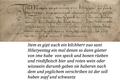 5 Dorfrecht Mumpf 1535 Abschnitt zum jährlichen Speck- und Bohnenmahl des Kilchherrn.png