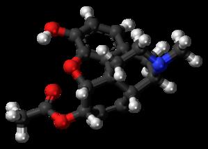 6-Monoacetylmorphine - Image: 6 Monoacetylmorphine molecule ball
