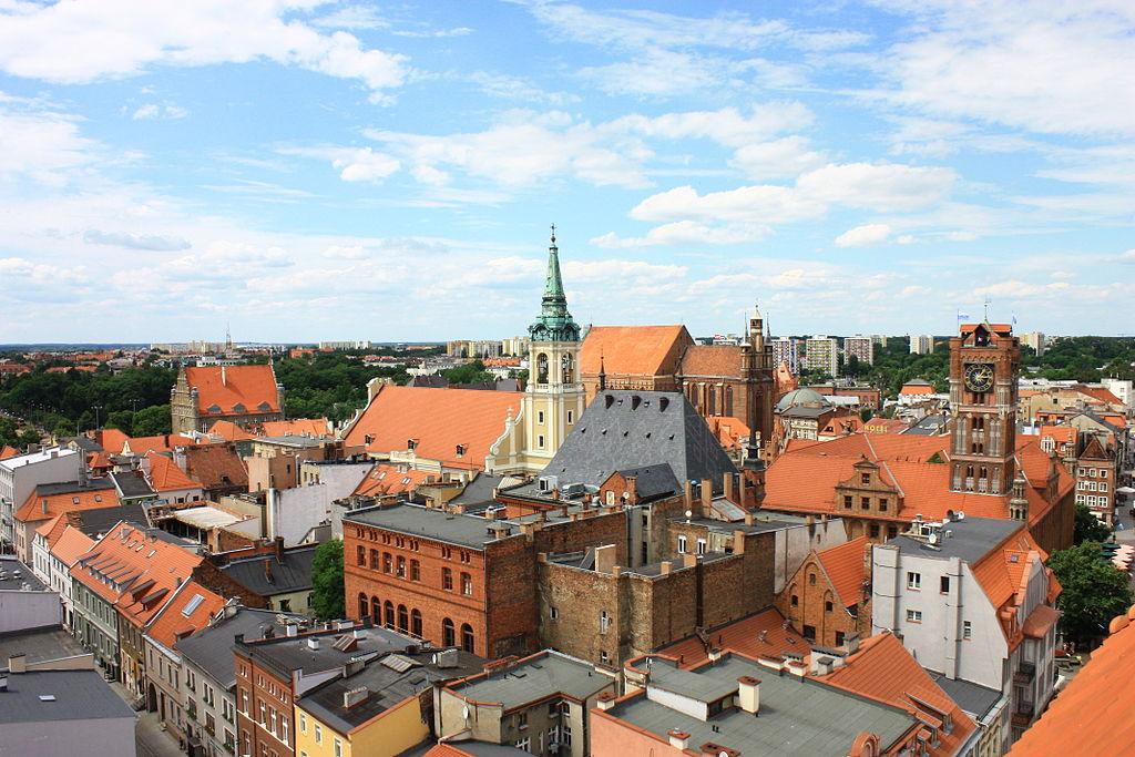 602945 Toruń dzielnica Starego Miasta z cat. J. Chrzciciela 03