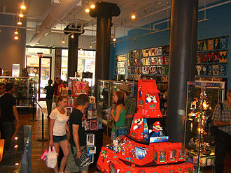 Forbidden Planet (bookstore) - Interior of the Manhattan store's current location on opening day, 24 July 2012