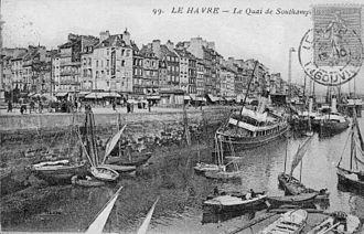 Nausea (novel) - Le Havre: Quai de Southampton in the 1920s