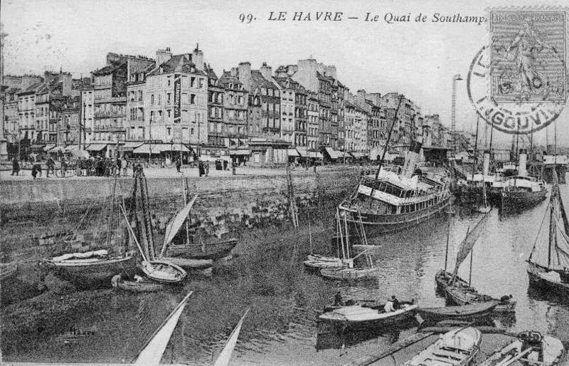 Fichier:76-Le Havre-Quai de Southampton-années 20.jpg